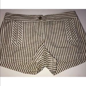 J Crew brown stripe size 4 shorts